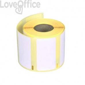 Etichette removibili Q-Connect per Dymo LabelWriter - multiuso 57x32 mm - rotolo 1000 etichette - KF18532
