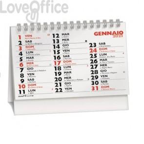 Calendario da Tavolo wire-o (13 fogli) 14,4x10,2 cm rosso/nero CT400