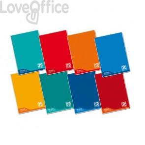 Quaderno a quadretti con margine A4 Maxi One Color 100 Gr - 0Q - colore  assortito - 18+1 fogli