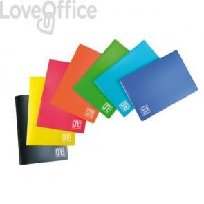 Quaderno a righe con margine A4 punto metallico Maxi One Color PM PPL 80 gr - rigatura C - 20 fogli +1 - colore  assortito