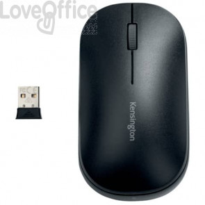 Mouse wireless doppio Kensington SureTrack™ 48x184x105 mm nero K75298WW
