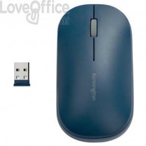 Mouse wireless doppio Kensington SureTrack™ 48x184x105 mm blu