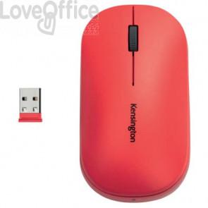 Mouse wireless doppio Kensington SureTrack™ 48x184x105 mm rosso K75352WW