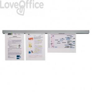 Binario adesivo porta documenti Jalema Grip 60 cm alluminio grigio N300700