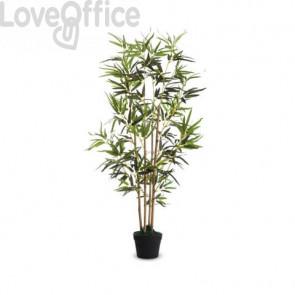 Pianta artificiale bambù Paperflow Pet verde tronco in legno - h. 120 cm K700137