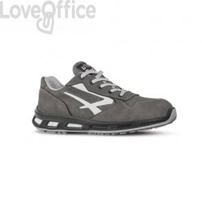 Scarpe antinfortunistiche in pelle Nabuk Idro Kick S3 U-Power grigio-bianco n° 43