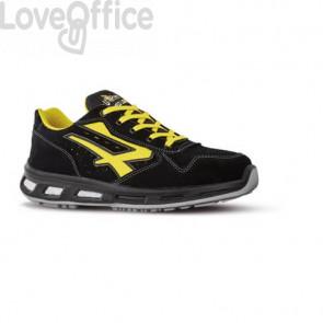 Scarpe antinfortunistiche in pelle di camoscio Axel S1P U-Power nero/giallo - n° 43