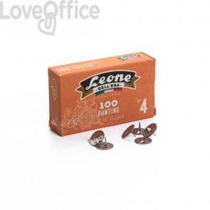 Puntine da disegno in acciaio Leone N° 4 diametro testa 13 mm - scatola di cartone da 100 pezzi - PL4
