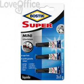 Adesivo universale istantaneo Bostik Super Mini liquido tubetto monodose  1 gr - Conf. 3 pz - D2743