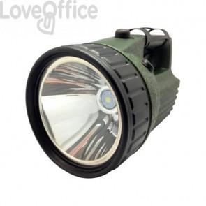 Torcia ricaricabile CFG Estreme Led waterproof IP44 LED 10W nero/verde Luce quadra - EL041