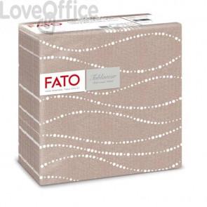 Tovaglioli piegati 1 velo Fato Tablewear 40x40 cm pura cellulosa decoro Perle nocciola - conf. 50 pezzi - 88446700
