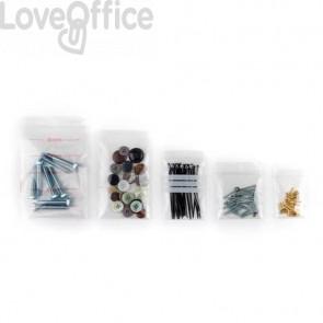 Buste Grip trasparenti WeGrip con 3 3 bande bianche scrivibili f.to 4x6 cm - Conf. 1000 pezzi - TGS4060