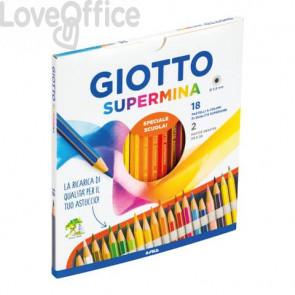Matite colorate GIOTTO Supermina assortiti Conf. 18 pezzi + 2 matite Lyra Temagraph HB - 236300