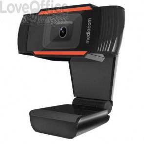 Webcam Mediacom M350 HD 720P nero - risoluzione 1280x720 px - USB 2.0 compatibile Windows e Mac OS - M-WEA350