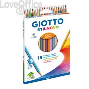 Matite colorate Giotto Stilnovo assortiti (astuccio da 18)