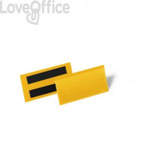 Tasche per identificazione a fissaggio magnetico DURABLE 113x53 mm giallo Conf. 50 pz - 1741-04