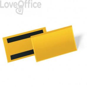 Tasche per identificazione a fissaggio magnetico DURABLE 163x81,5 mm giallo Conf. 50 pz - 1742-04