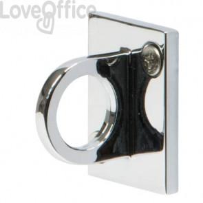 Attacco a muro per colonnina separacoda Securit® Budget 5x3,8x4 cm cromato RS-CLWH-CH