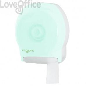 Mini distributore di carta igienica QTS Jumbo Ecoline Beeo 22,5x12,5x27 cm verde opalino - E-TO/2S-S