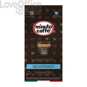 Caffè in capsule compatibili Nespresso Minuto caffè Espresso love3 decaffeinato astuccio 10 pezzi - 01401