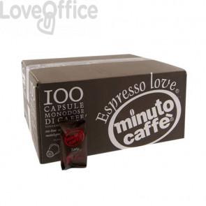 Caffè in capsule compatibili Nespresso Minuto caffè Espresso love3 forte - cartone 100 pezzi - 02379
