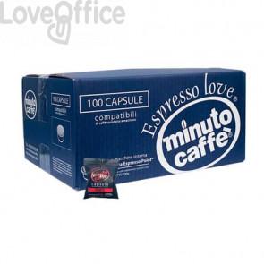Caffè in capsule compatibili Lavazza Espresso Point Minuto caffè Espresso love2 forte - cartone 100 pezzi - 02856