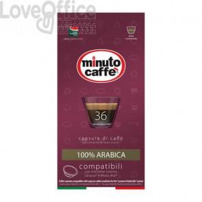 Caffè in capsule compatibili A Modo Mio Minuto caffè Espresso love4 100% arabica - astuccio 36 pezzi - 02857