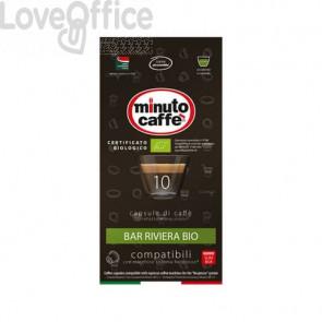 Caffè in capsule compatibili Nespresso Minuto caffè Espresso love3 riviera bio astuccio 10 pezzi - 04899