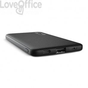 Powerbank ultrasottile da 5.000 mAh Trust Primo 1 USB A + 1 USB C - nero 23596
