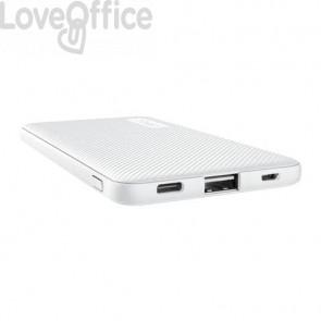 Powerbank ultrasottile da 5.000 mAh Trust Primo 1 USB A + 1 USB C - bianco 23863