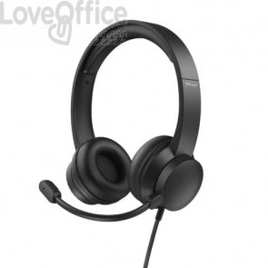 Cuffie on-ear Trust HS-200 USB 2.0 nero - cavo 1,8 m 24186