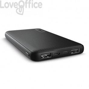 Powerbank ultrasottile da 10.000 mAh Trust Primo 2 USB A + 1 USB C nero 23595