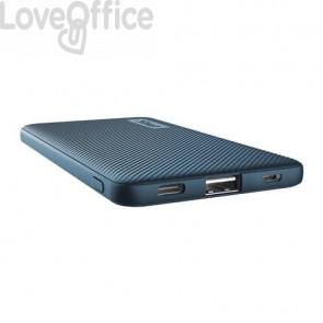 Powerbank ultrasottile da 5.000 mAh Trust Primo 1 USB A + 1 USB C - blu 23860