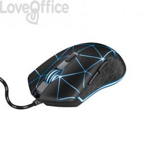 Mouse gaming illuminato Trust GXT133 LOCX nero con luci LED a 4 colori 22988