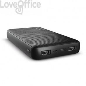 Powerbank compatto da 15.000 mAh Trust Primo 2 USB A + 1 USB C nero