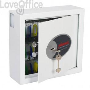Cassaforte portachiavi 30 ganci Security Italia Cygnus bianco serratura a chiave bianco - KS0031K