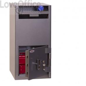 Cassaforte antirapina con cassetto basculante Security Italia Cashier Deposit serratura chiave grigio SS0997K