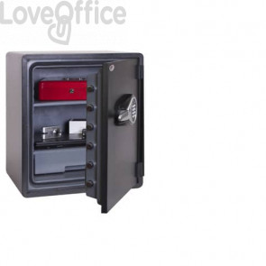 Cassaforte ignifuga water resistant per carta/supporti digitali Security Italia Titan Aqua NT FIRE 017 60 L
