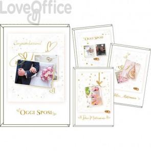 Biglietti augurali Kartos Felice matrimonio 11,7x17 cm - Soggetti vintage Conf. 12 pezzi - 17984901