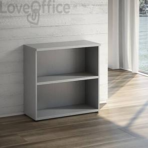 Mobile a Giorno LineKit - trama grigio - 1 ripiano - 90x40,1x87,7 cm