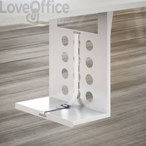 Porta Cpu Sospeso LineKit Koros 43 x 22 x H.50 cm - bianco - con cinghia di sicurezza - C2060XBI