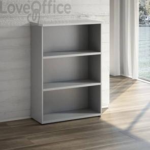 Mobile libreria a giorno LineKit - trama grigio - 2 ripiani - 90x40,1x129,3 cm