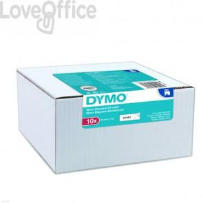 Nastro per etichettatrici Dymo D1 12 mm x 7 m nero/bianco Conf. 10 pezzi - 2093097