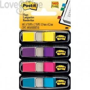 Segnapagina Post-it® Index Mini 683 - azzurro, fucsia, giallo, rosa (conf.4)