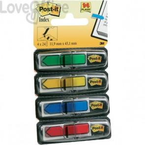 Segnapagina Post-it® Index Mini 684 - blu, giallo, rosso, verde - 684-ARR3 (conf.4)