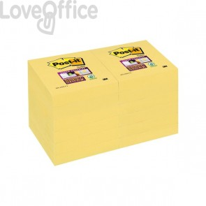 Post-it® Super Sticky Canary™ - 51x51 mm - giallo canary (conf.12)