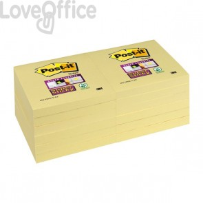 Post-it® Super Sticky Canary™ - 76x76 mm - giallo canary (conf.12)