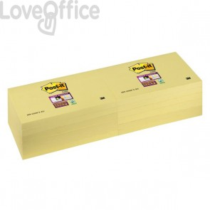 Post-it® Super Sticky Canary™ - 76x127 mm - giallo canary (conf.12)
