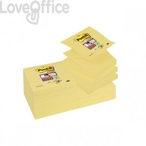 Ricariche Post-it® Z-Notes Super Sticky Canary™ - 76x76 mm - giallo canary (conf.12)