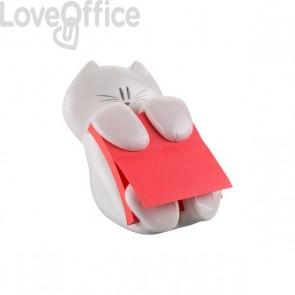 Dispenser Gatto Emotional Post-it® Z-Notes - 76x76 mm - bianco - + 1 ricarica di fogliretti rossi - CAT-330